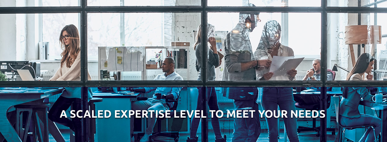 A scaled expertise level to meet your needs